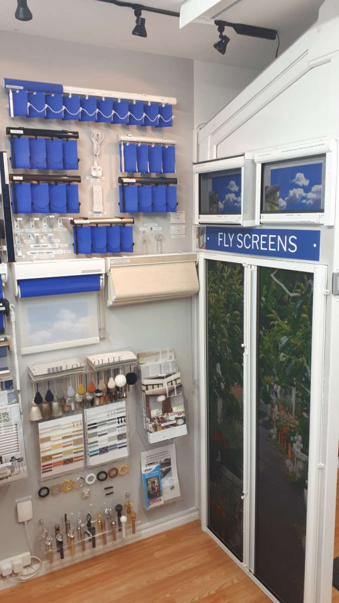 Flyscreens and Verticals in showroom