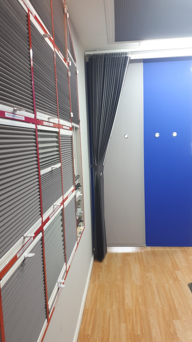 Pleated, allusion and panel blinds