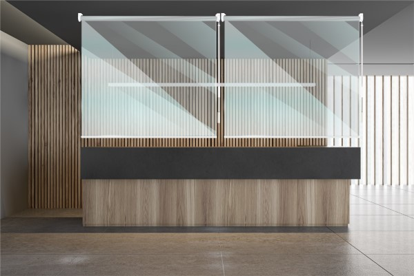 Rollerscreens over counter
